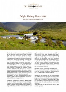 Delphi Fishery News 2014